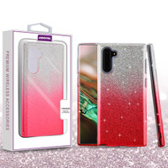 Asmyna Gradient Glitter Hybrid Protector Cover for Samsung Galaxy Note 10 (6.3) - Pink