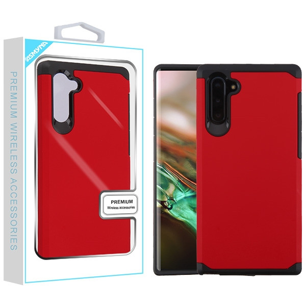 Asmyna Astronoot Protector Cover for Samsung Galaxy Note 10 (6.3) - Red / Black