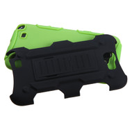 Asmyna Car Armor Stand Protector Cover (Rubberized) for Samsung Galaxy Note II (T889/I605/N7100) - Black / Electric Green