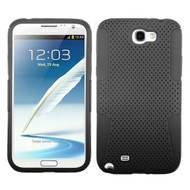 Asmyna Astronoot Protector Cover for Samsung Galaxy Note II (T889/I605/N7100) - Black / Black