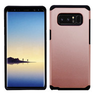 Asmyna Astronoot Protector Cover for Samsung Galaxy Note 8 - Rose Gold / Black
