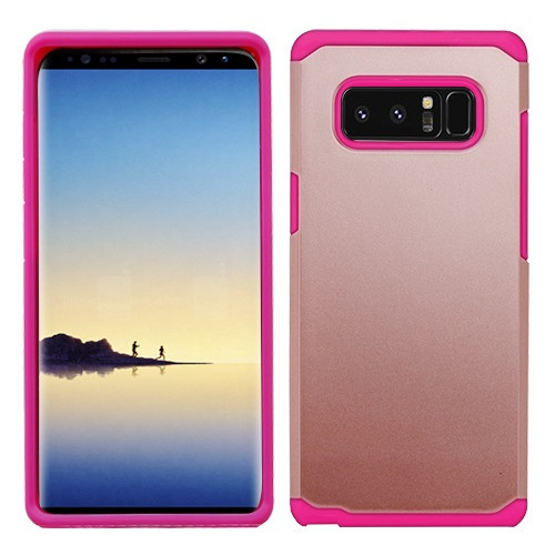 Asmyna Astronoot Protector Cover for Samsung Galaxy Note 8 - Rose Gold / Hot Pink