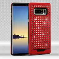 Asmyna Diamante FullStar Protector Cover for Samsung Galaxy Note 8 - Red / Black