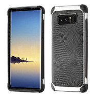Asmyna Astronoot Protector Cover for Samsung Galaxy Note 8 - Black Dots(Silver Plating) / Black