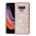 Asmyna Full Glitter Hybrid Protector Cover for Samsung Galaxy Note 9 - Electroplating Rose Gold Maple Vine (Transparent Clear)