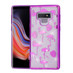 Asmyna Full Glitter Hybrid Protector Cover for Samsung Galaxy Note 9 - Electroplating Purple Flamingo Land (Transparent Clear)