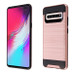 Asmyna Brushed Hybrid Protector Cover for Samsung Galaxy S10 5G - Rose Gold / Black