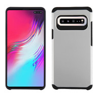 Asmyna Astronoot Protector Cover for Samsung Galaxy S10 5G - Silver / Black