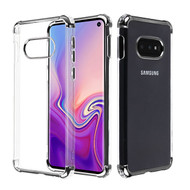 Asmyna Klarion Candy Skin Cover for Samsung Galaxy S10E - Electroplating Black / Transparent Clear