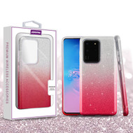 Asmyna Gradient Glitter Hybrid Protector Cover for Samsung Galaxy S20 Ultra (6.9) - Pink