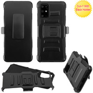 Asmyna Advanced Armor Stand Protector Cover Combo (with Black Holster) for Samsung Galaxy S20 PLUS (6.7) - Black / Black
