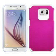 Asmyna Astronoot Protector Cover for Samsung G920 (Galaxy S6) - Hot Pink / White