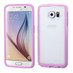 Asmyna Frame Protector Cover for Samsung G920 (Galaxy S6) - Transparent / Purple Candy