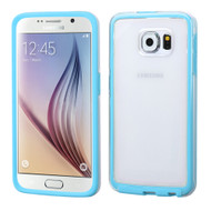 Asmyna Frame Protector Cover for Samsung G920 (Galaxy S6) - Transparent / Baby Blue Candy