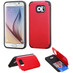 Asmyna Advanced Armor Stand Protector Cover (with Card Wallet) for Samsung G920 (Galaxy S6) - Red Inverse