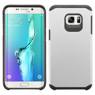 Asmyna Astronoot Protector Cover for Samsung Galaxy S6 edge Plus - Silver / Black