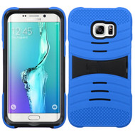 Asmyna Symbiosis Protector Cover (with Horizontal Stand) for Samsung Galaxy S6 edge Plus - Black / Blue Wave