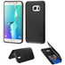 Asmyna Advanced Armor Stand Protector Cover (with Card Wallet) for Samsung Galaxy S6 edge Plus - Black Inverse