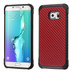 Asmyna Astronoot Protector Cover for Samsung Galaxy S6 edge Plus - Red Carbon-Fiber Backing / Black