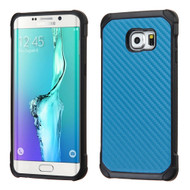 Asmyna Astronoot Protector Cover for Samsung Galaxy S6 edge Plus - Blue Carbon-Fiber Backing / Black