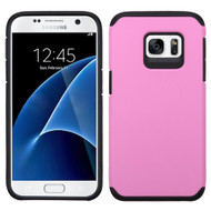 Asmyna Astronoot Protector Cover for Samsung G930 (Galaxy S7) - Pink / Black