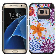 Asmyna Advanced Armor Protector Cover for Samsung G935 (Galaxy S7 Edge) - Flower Bud / Bubble / Black