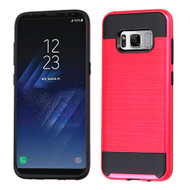 Asmyna Brushed Hybrid Protector Cover for Samsung Galaxy S8 - Red / Black