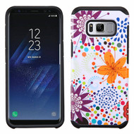 Asmyna Advanced Armor Protector Cover for Samsung Galaxy S8 Plus - Flower Bud / Bubble / Black