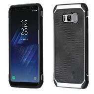 Asmyna Astronoot Protector Cover for Samsung Galaxy S8 Plus - Black Dots(Silver Plating) / Black