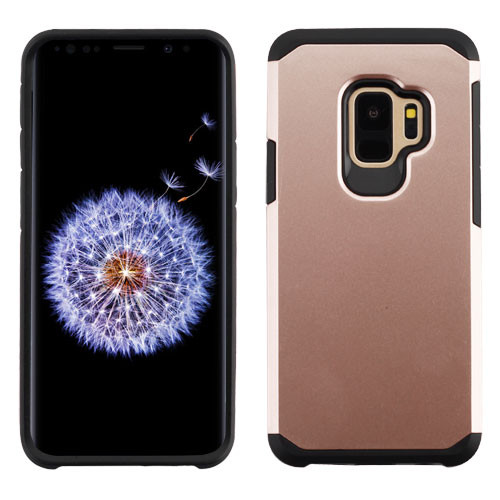 Asmyna Astronoot Protector Cover for Samsung Galaxy S9 - Rose Gold / Black