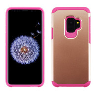 Asmyna Astronoot Protector Cover for Samsung Galaxy S9 - Rose Gold / Hot Pink