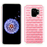 Asmyna FullStar Protector Cover for Samsung Galaxy S9 - Pearl Pink / Gray