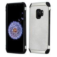 Asmyna Astronoot Protector Cover for Samsung Galaxy S9 - Silver Dots(Silver Plating) / Black