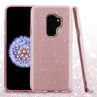 Asmyna Full Glitter Hybrid Protector Cover for Samsung Galaxy S9 Plus - Pink