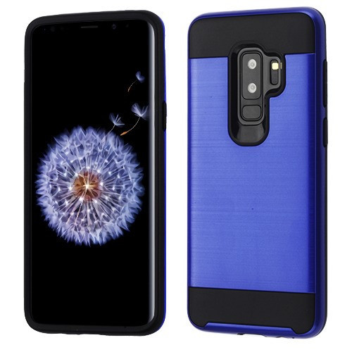 Asmyna Brushed Hybrid Protector Cover for Samsung Galaxy S9 Plus - Dark Blue / Black