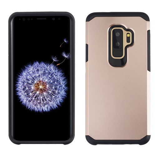 Asmyna Astronoot Protector Cover for Samsung Galaxy S9 Plus - Rose Gold / Black