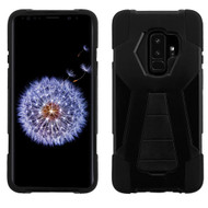 Asmyna Advanced Armor Stand Protector Cover for Samsung Galaxy S9 Plus - Black Inverse