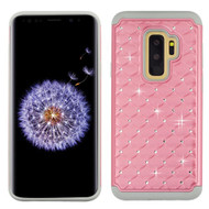 Asmyna FullStar Protector Cover for Samsung Galaxy S9 Plus - Pearl Pink / Gray