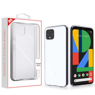 MyBat Sturdy Gummy Cover for Google Pixel 4 - Highly Transparent Clear / Transparent Clear