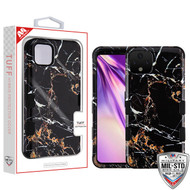 MyBat TUFF Hybrid Protector Cover [Military-Grade Certified] for Google Pixel 4 XL - Montmartre Marble / Black