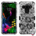 MyBat TUFF Hybrid Protector Cover [Military-Grade Certified] for Lg G8 ThinQ - Black Four-Leaf Clover (2D Silver) / Black