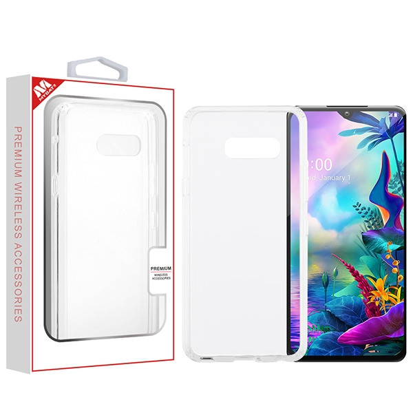 MyBat Sturdy Gummy Cover for Lg G8X ThinQ - Highly Transparent Clear / Transparent Clear
