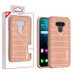 MyBat Fusion Protector Cover for Lg Harmony 4 - Rose Gold Dots Textured / Rose Gold