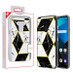MyBat Fusion Protector Cover for Lg Harmony 4 - Electroplated Black Marbling