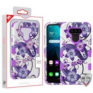 MyBat TUFF Hybrid Protector Cover [Military-Grade Certified] for Lg Harmony 4 - Purple Hibiscus Flower Romance / Electric Purple