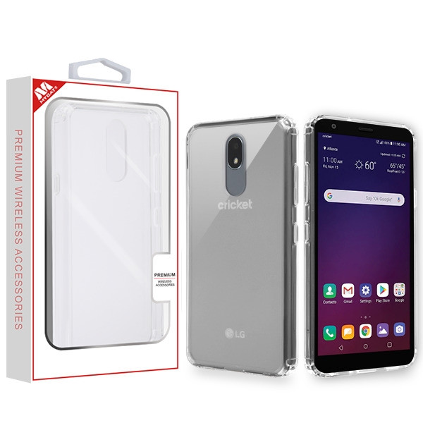 MyBat Sturdy Gummy Cover for Lg X320 (Escape Plus) - Highly Transparent Clear / Transparent Clear