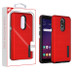 MyBat Fusion Protector Cover for Lg X320 (Escape Plus) - Red Dots Textured / Black