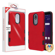 MyBat TUFF Subs Hybrid Case for Lg X320 (Escape Plus) - Titanium Red / Black