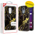 MyBat Fuse Hybrid Protector Cover for Lg X320 (Escape Plus) - Electroplated Black Marbling / Black