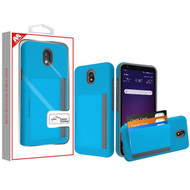 MyBat Poket Hybrid Protector Cover (with Back Film) for Lg X320 (Escape Plus) - Blue / Gray